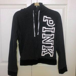pink hooded zip up!